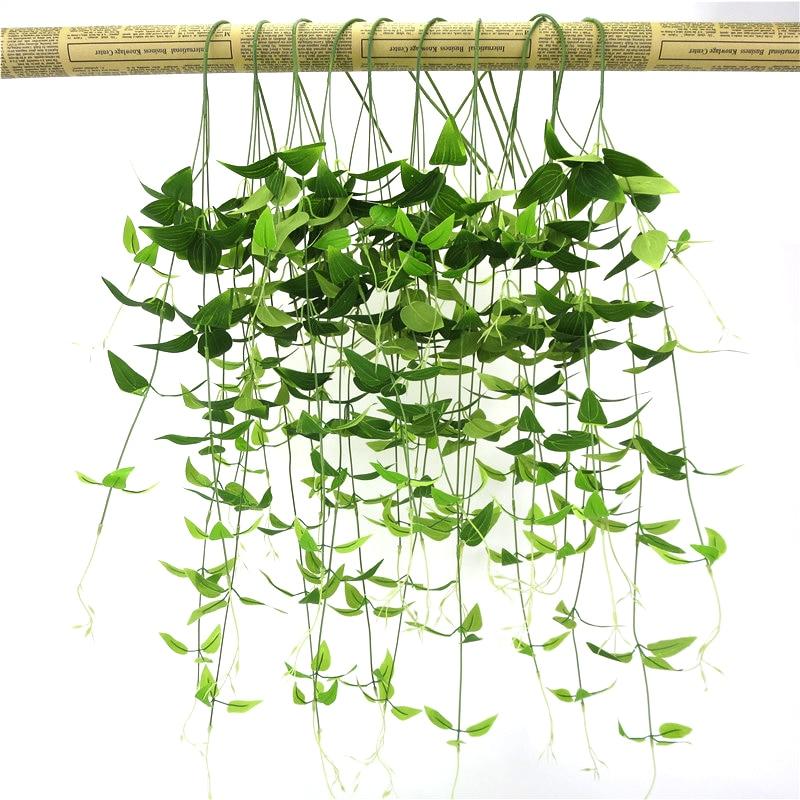 1 rama de hiedra verde Artificial, hojas falsas de madreselva, planta colgante de pared, plantas verdes de plástico, decoración para el jardín de la boda, hogar, 96CM
