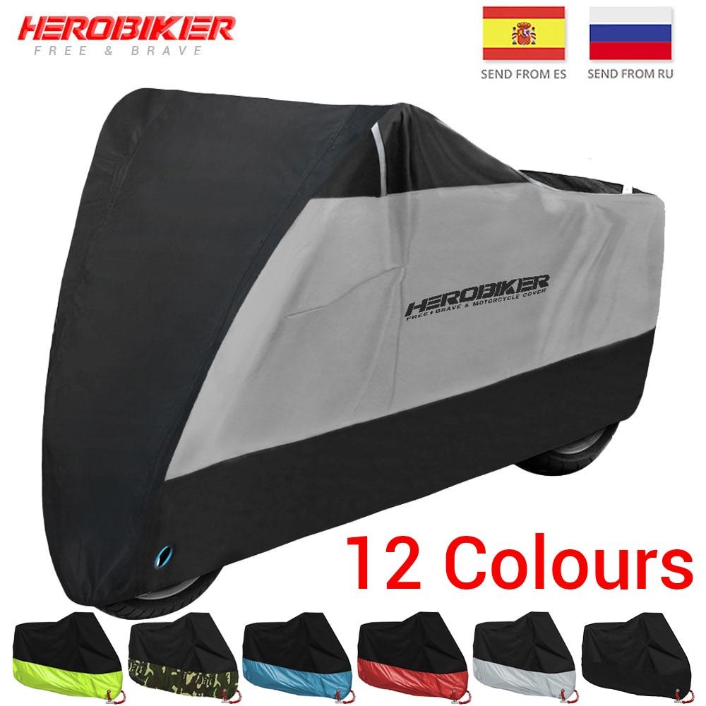 HEROBIKER New Motorcycle Cover Bike All Season Waterproof Dustproof UV Protective Outdoor Moto Scooter Motorbike Rain Cover