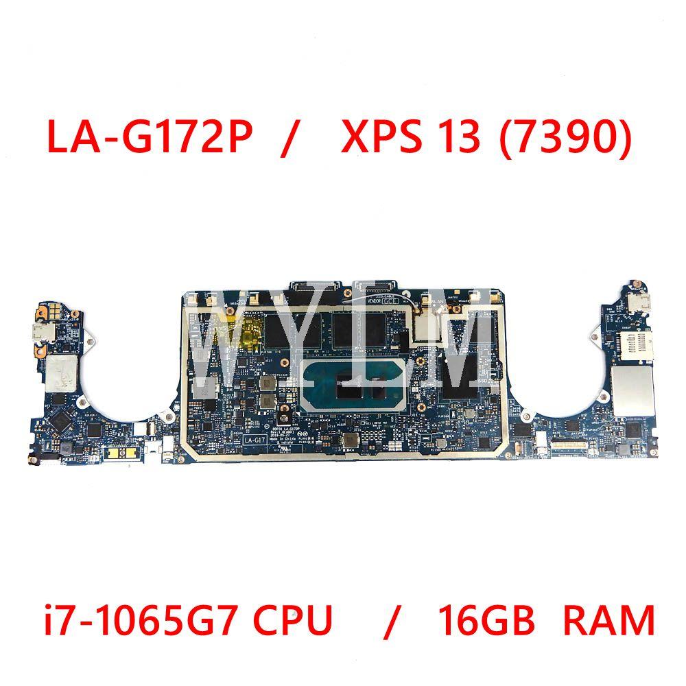 CN- 0D1R0X LA-G172P لأجهزة الكمبيوتر المحمول XPS 13 (7390) 2 في 1 اللوحة الأم مع وحدة المعالجة المركزية I7-1065G7 16GB RAM D1R0X العمل المثالي