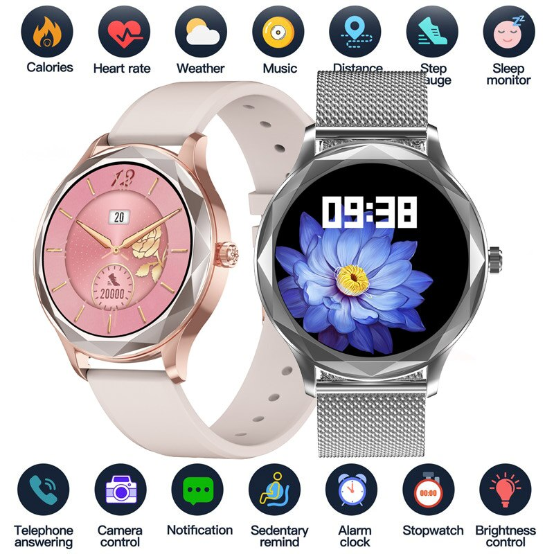 Smart Watch Women Lovely Bracelet Sleep Heart Rate Blood Pressure Monitor Smartwatch Ladies Gift Wat