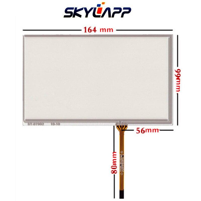 شاشة تعمل باللمس جديدة مقاس 164 مللي متر × 99 مللي متر ، مقاومة الكتابة اليدوية ، لوحة لمس زجاجية ، إصلاح المحول الرقمي ، لـ ininoux AT070TN94 AT070TN92 90