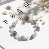 canze women bracelets natural mausoleum bado freshwater pearl crystal bracelet beads bangle elastic pulsera men jewelry