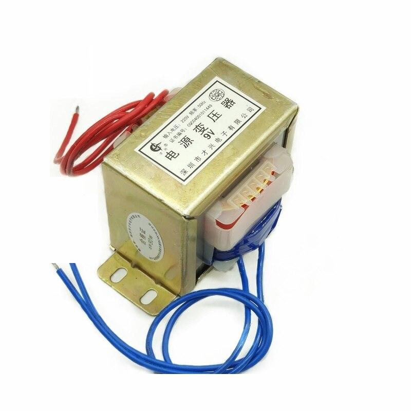 Transformador de CA EI-80W Tipo 9V AC9V 220V a 9V 8.8A fuente de alimentación CA 80 W/ VA