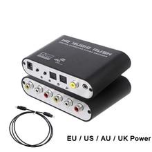 Numérique à analogique 5.1 canaux stéréo DAC Audio convertisseur optique SPDIF Coaxial AUX 3.5mm à 6 RCA son décodeur amplificateur