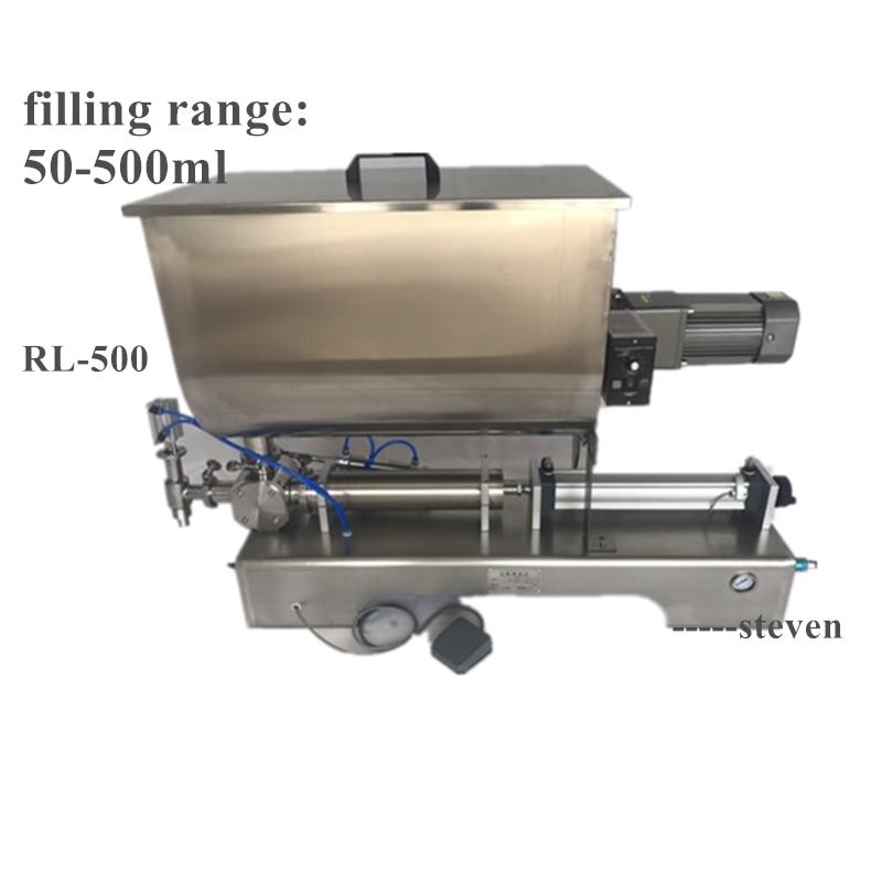 Máquina de llenado de mezcla horizontal neumática comercial de 50-500ml salsa de tomate salsa de Chile máquina de llenado de mezcla de mantequilla de maní