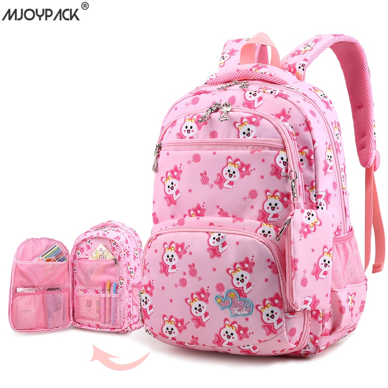 2020 Girl Student School Bags Children Bagpack Cute College Schoolbags Cartoon Large Backpack For Teenage Kids mochila infantil