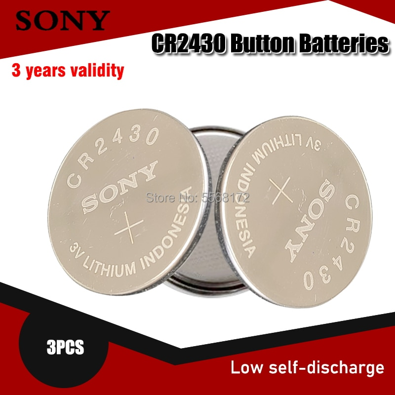 3 uds 100% Original Sony CR2430 DL2430 CR 2430 3V batería de litio para reloj inteligente auriculares juguete a escala botón podómetro pila de moneda