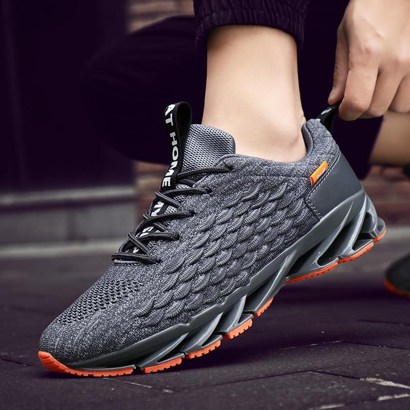 Nova lâmina tênis de corrida masculino ao ar livre sapatos apartamentos venda quente dos homens sapatos casuais antiderrapantes tênis respirável sapatos zapatos hombre
