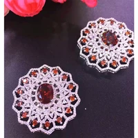 39mm womens high quality classic zircon flower accessories sweater chain necklace accessories sunflower
