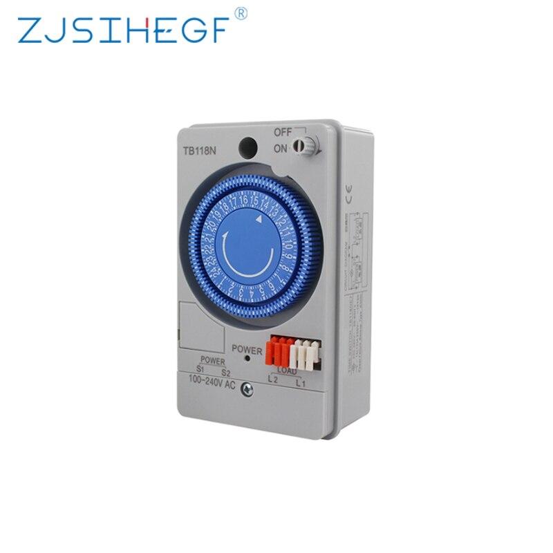 Interruptor de temporizador mecánico TB118N, Mini temporizador mecánico, interruptor de Control de tiempo rotativo semanal analógico, temporizador TB118N