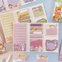 creative sticky notes stationery for school cute daily planner kawaii student planner to do list scrapbook paper weekly planner