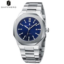 SAPPHERO 2021 NEW Mens Watches with Stainless Steel Quartz Movement Waterproof 30M Luxury Casual Bus