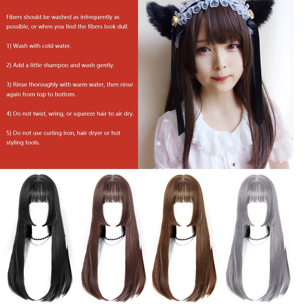 Anime Cosplay Wig Princess Ji Fa Cut Long Straight Heat Resistant Costume