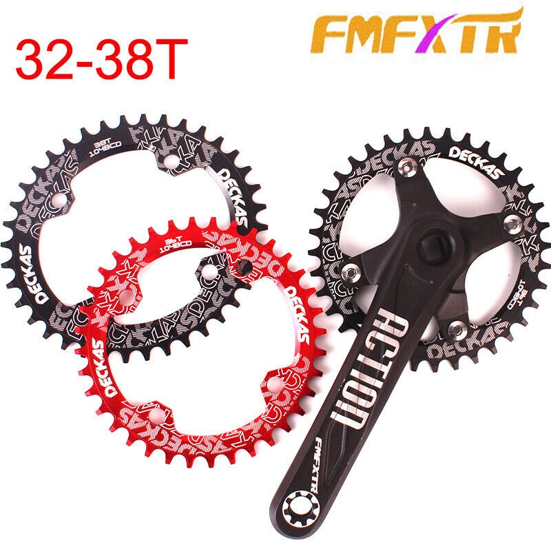 MTB Fahrrad 104BCD Kettenblatt 170mm Kurbel Aluminium Single Speed Kettenblatt MTB Bike Kurbel Mountainbike Teile 32/34 /36/38T