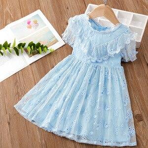 Girls Summer Dress 2021 Cotton Lace Dress Little Girl Fashion Princess Dress Girls Clothes Flower Girl Dresses Kids Dresses 1-8y