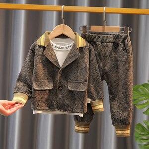 Children's wear Baby Boy Clothing Set Spring Autumn Fashion Coat+Shirt+Pants 3pcs Outfits Cotton Toddler Boys Tracksuit Suits