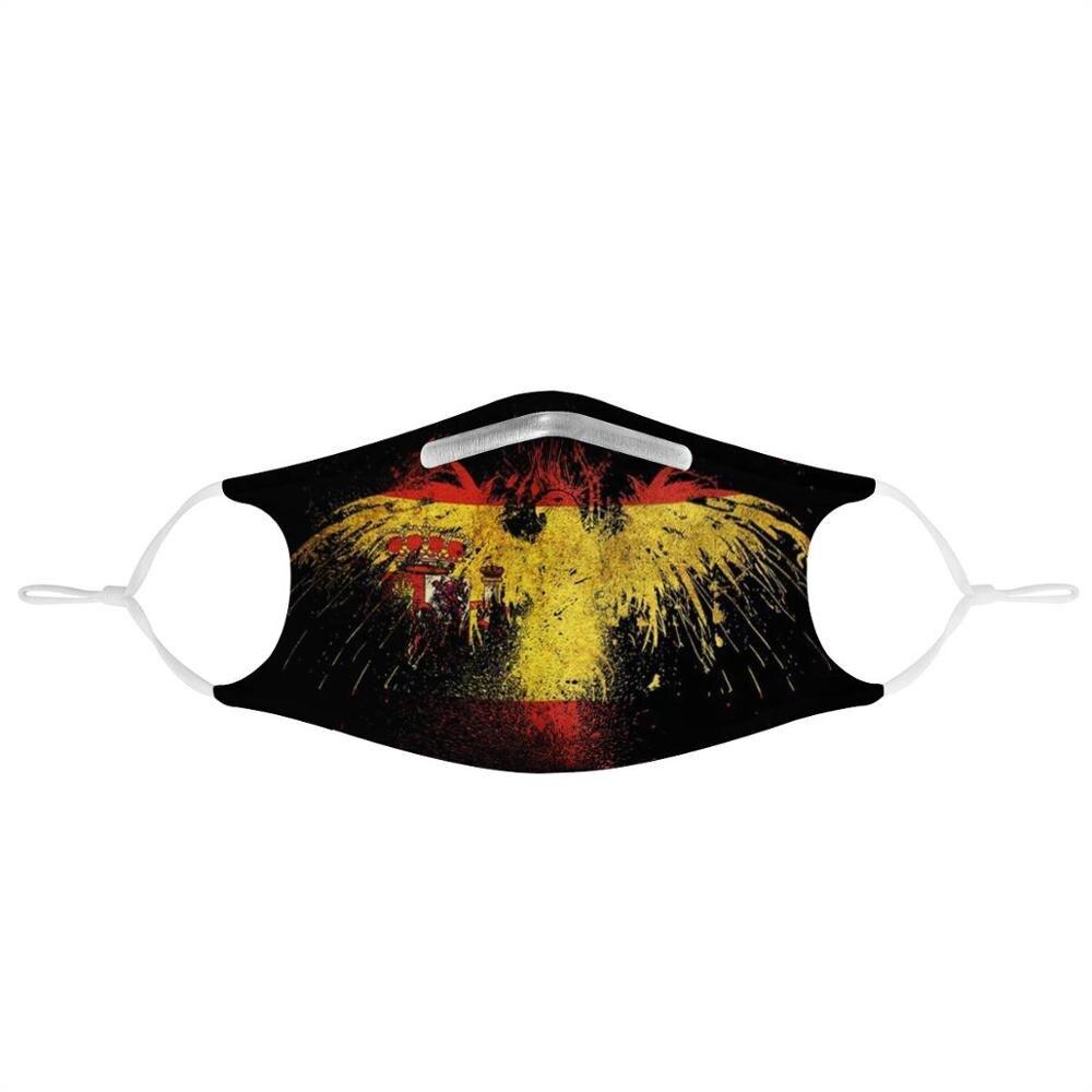 New Bird shape Spanish flag painting Custom pattern 4Pcs Filter Gas Masks Women Men Anti-dust Masks Washable Reusable Face Mask