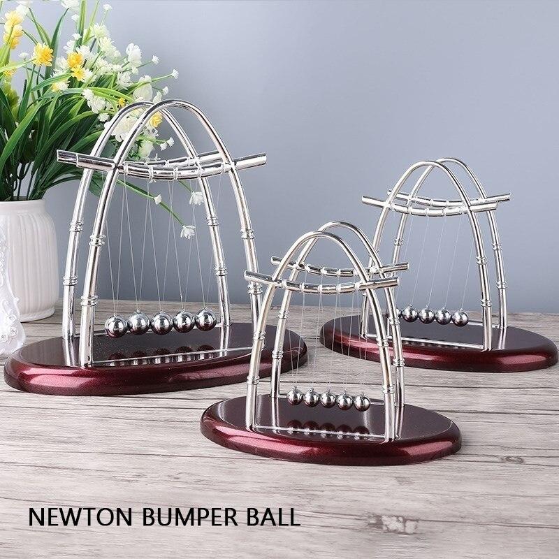 AliExpress - 1pcs Newton's Cradle Desk Table Decor Metal Pendulum Ball Newton Ball Physics Science Pendulum Steel Balance Ball home decor