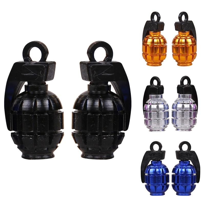4 Uds Grenad styling Universal aleación de aluminio bicicleta coche motocicleta accesorios Granada Válvula de rueda neumático Stem Caps bicicleta