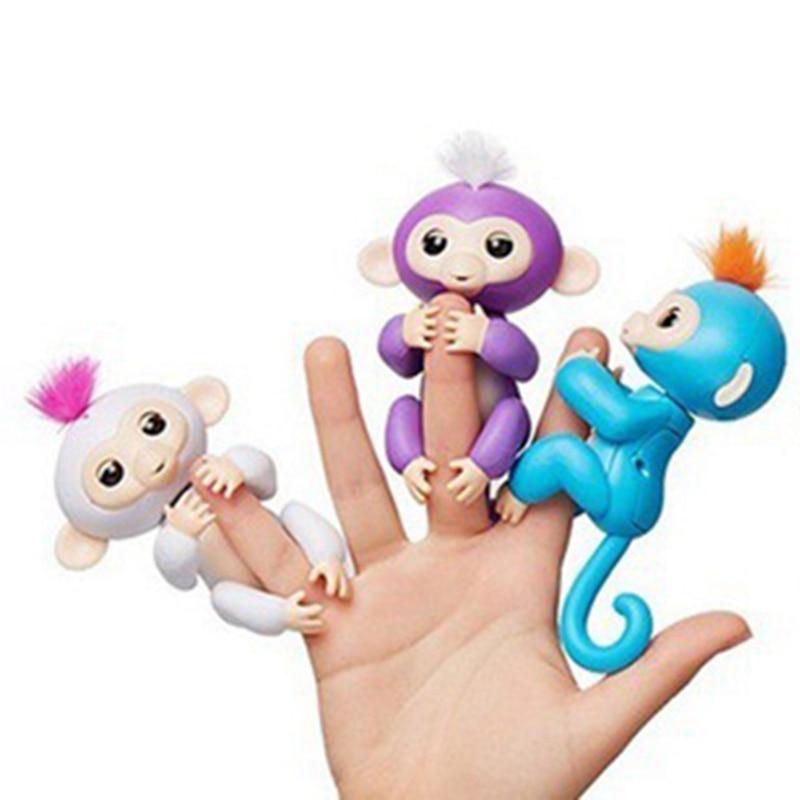 Bebé mono de juguete para el bebé de dedo mono de los niños juguetes, para la punta del dedo mono inteligente del animal doméstico dedo mono