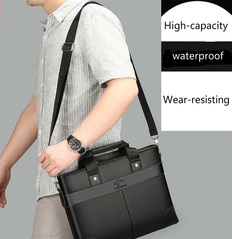 Servietă de marcă pentru bărbați de afaceri, geantă de mână - Genti diplomat - Fotografie 4