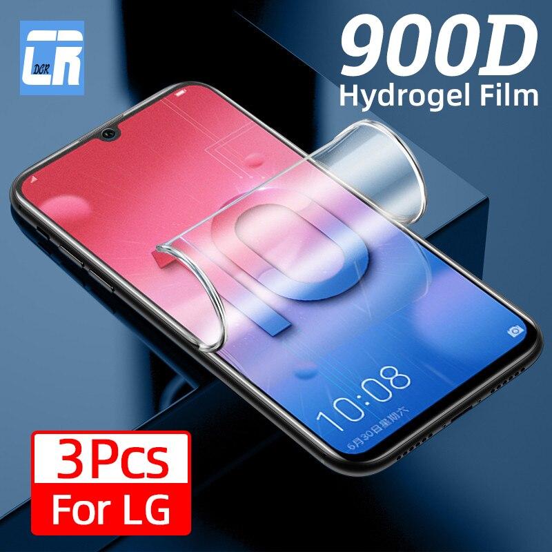 1-3Pcs Volle Abdeckung Hydrogel Film für LG V50 V40 V30 Plus Q60 K61 K51S Screen Protector für LG Samt K62 K52 K42 K41S Nicht Glas