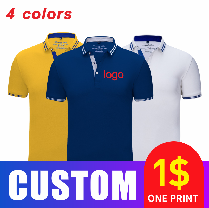 Spring and summer business breathable overalls Polo shirt high-end custom printed embroidery