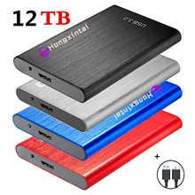 SSD HDD 2,5 8 ТБ внешний твердотельный накопитель 12 ТБ устройство для хранения Жесткий диск компьютер портативный USB3.0 SSD мобильный жесткий диск
