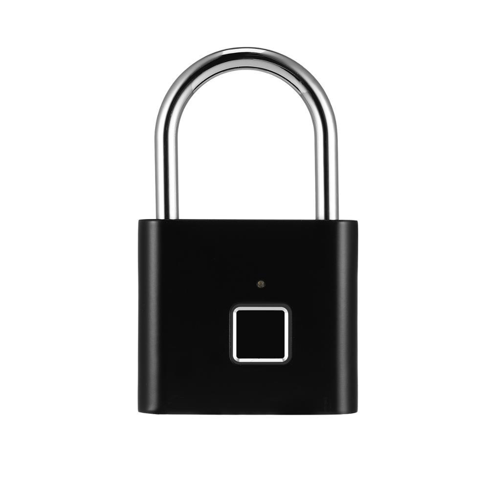 bluetooth rechargeable smart lock keyless fingerprint lock ip66 waterproof anti theft security padlock door luggage lock Rechargeable Smart Lock Keyless Fingerprint Lock IP66 Waterproof Anti-Theft Security Padlock Door Luggage Case Lock