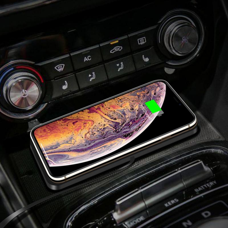 Cargador inalámbrico de teléfono 10W 3 en 1 alfombrilla de carga rápida alfombrilla de silicona para salpicadero de coche carga inalámbrica para iPhone 11 Pro X Samsung