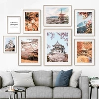 autumn mount fuji torii shimizu osaka maple old town wall art canvas painting posters and prints nordic style living room decor