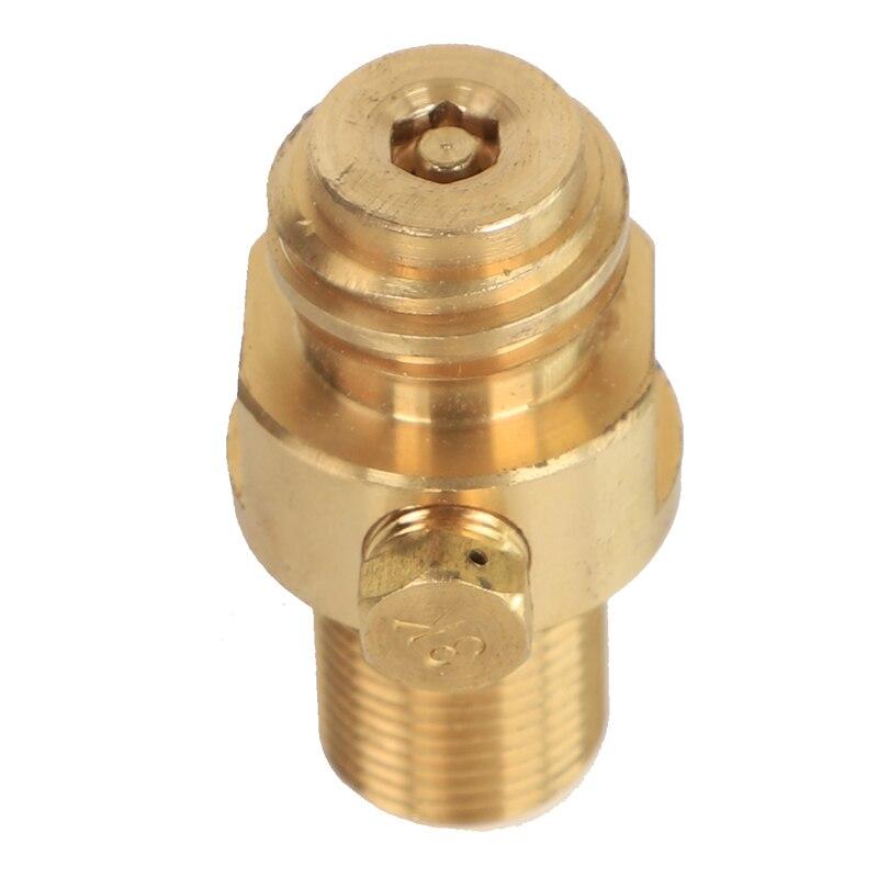 Válvula do ejetor da válvula da garrafa de soda co2 válvula de inflação do dióxido de carbono m18 * 1.5
