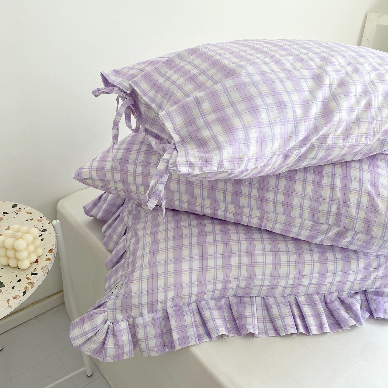 Чехол для подушки в шотландскую клетку, из 100% хлопка