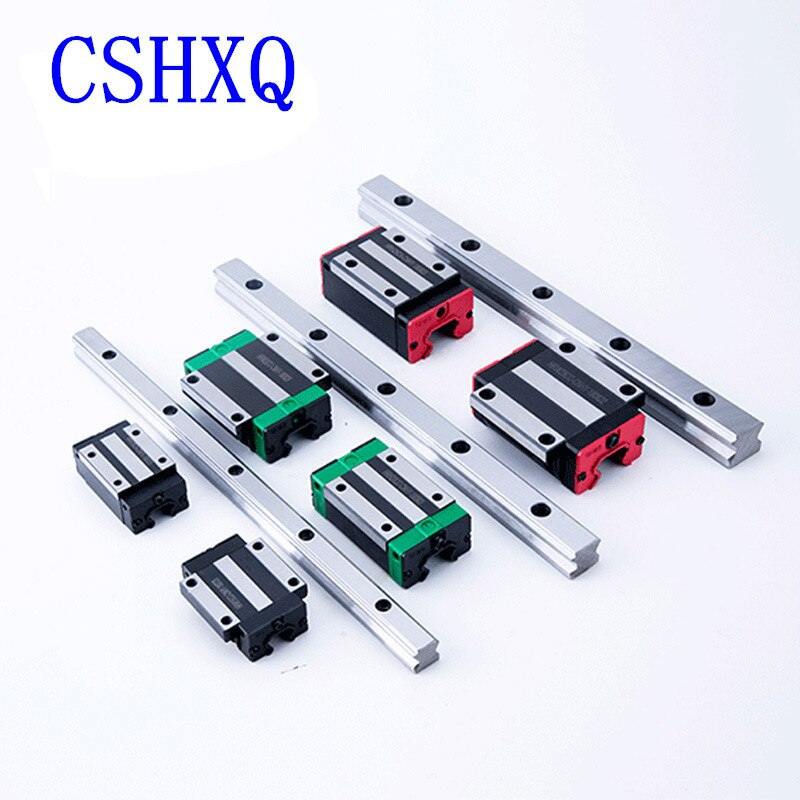 دليل السكك الحديدية الخطية HGR15 2 قطعة + 4 قطعة كتلة خطية النقل HGH15CA أو HGW15CC لقطع التصنيع باستخدام الحاسب الآلي