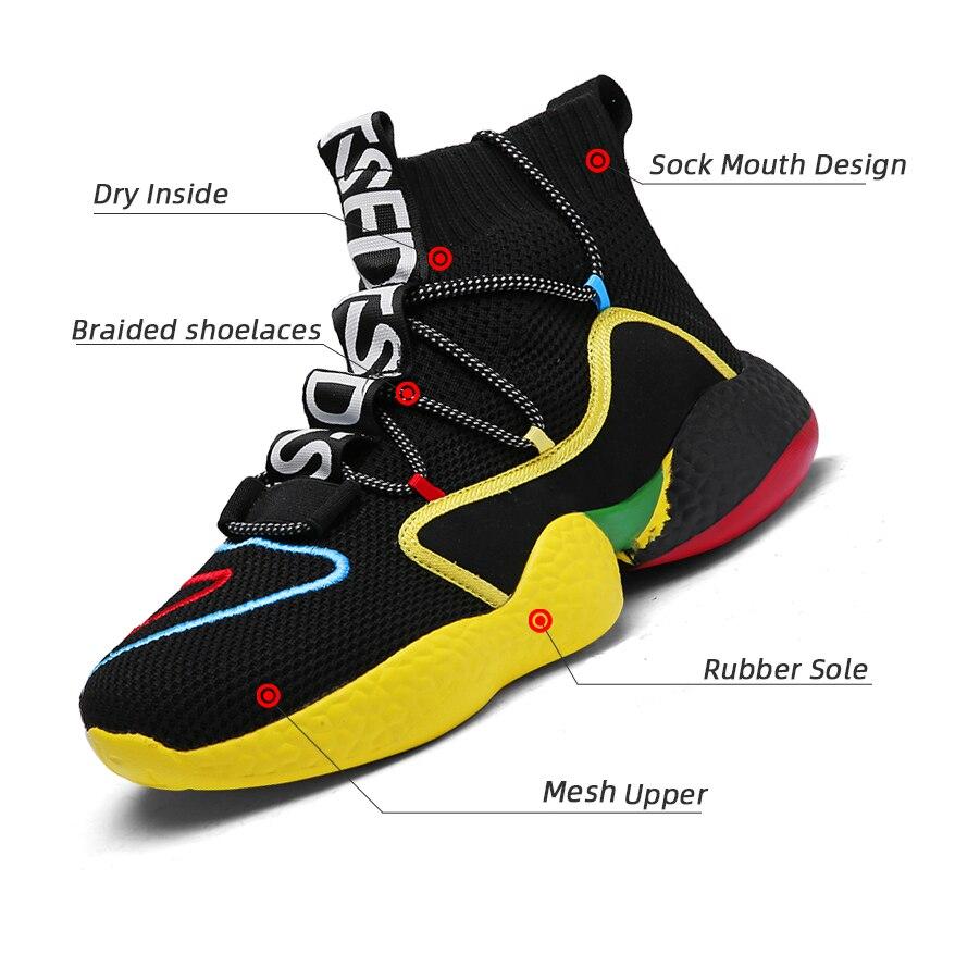 2020 nuevas Zapatillas altas transpirables para Hombre, zapatillas informales para Hombre, zapatillas...