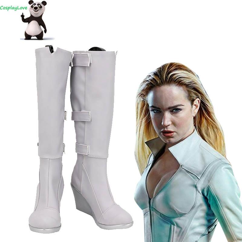 DC Legends Of Tomorrow zapatos blancos canario Sara Lance zapatos de Cosplay botas hechas a medida CosplayLove