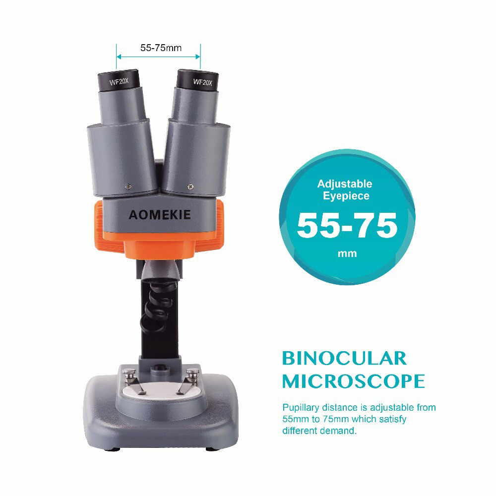 40X مجهر ستيريو مجهر علوي LED ل PCB لحام مجموعات عينات من الأحجار الكريستالية المقلدة مشاهدة الاطفال العلوم التعليم أداة إصلاح الهاتف