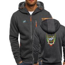 MV Agusta Corse Print Mens zipper Sweatshirt Men Hoodies Autumn Sweatshirts Hoodie Winter Hooded Tracksuit Hombrer Clothes