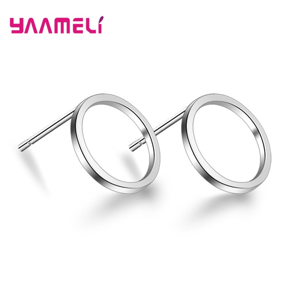 Minimalist Fashion Triangle Round Square S925 Sterling Silver Stud Earrings Party Gifts For Women Good Quality Jewelry Wholesale