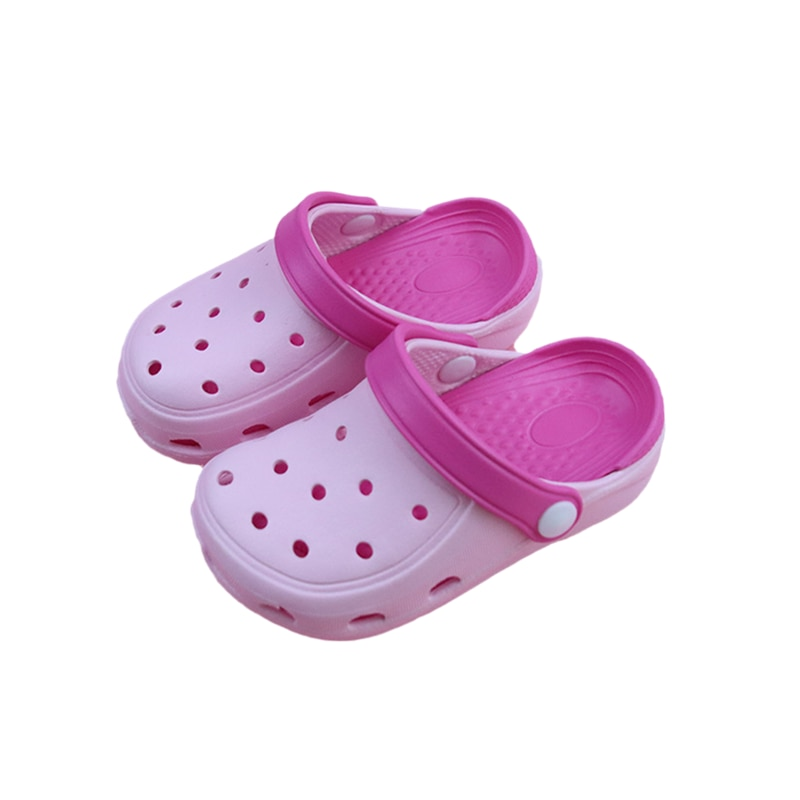 Summer Kids Sandals Simple Hole Breathable Antislip Slippers Children Soft Bottom Home Shoes Casual Baby Dual-Wear Sandal B0008