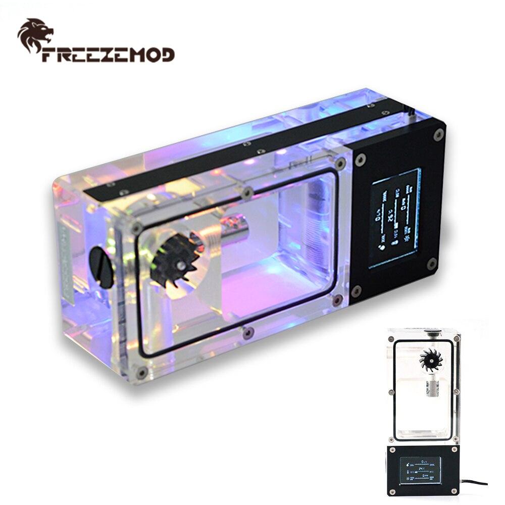 FREEZEMOD inteligente tanque de agua LCD medidor de RPM Hall Flujo de velocidad de temperatura eléctrica de detección de chismes insignificantes de MOD