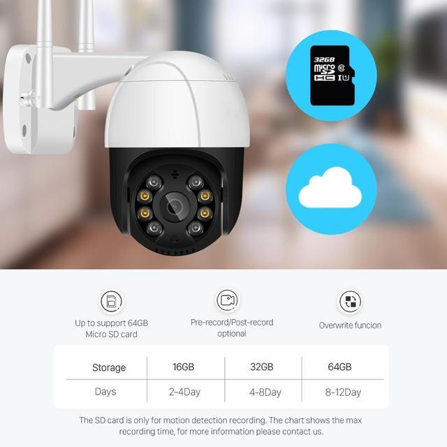 1080P PTZ Wifi IP Camera Outdoor 4X Digital Zoom AI Human Detect Wireless Camera H.265 P2P ONVIF Audio 2MP Security CCTV Camera 10