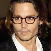 Retro Johnny Depp Stil Gläser Kleine Männer Klassische Vintage Brillen Frauen Optische Spektakel Rahmen Klare linse