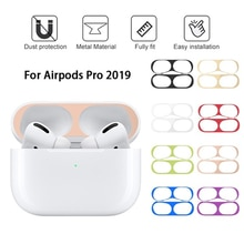 울트라 얇은 금속 먼지 증거 가드 애플 Airpods 프로 이어폰 피부 보호 스티커 아이폰 Airpodspro 먼지 플러그 커버