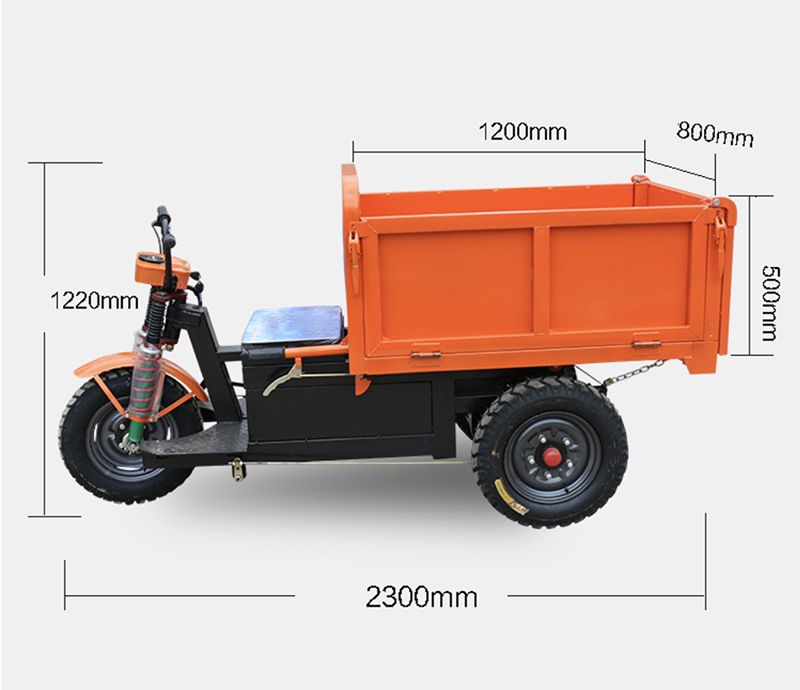 45V 1.5KW Engineering tricycle ash bucket construction site electric rider agricultural breeding plant move and pulling bricks enlarge