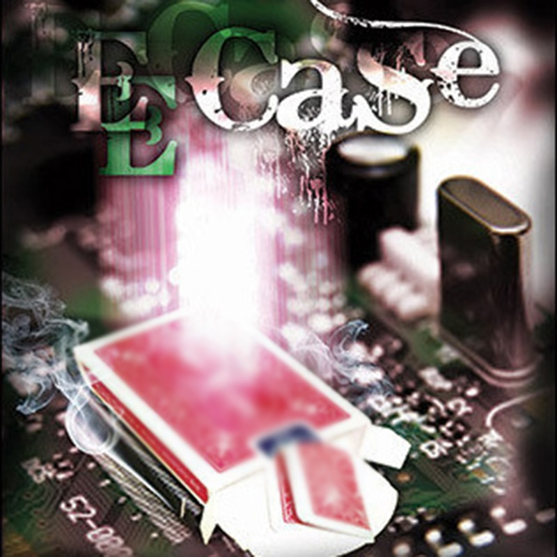 E-Case (DVD + Gimmick) Magic Tricks - The Electronic Signed Card To Case By Mark Mason- Magic Trick Stage Accessories Mentalism