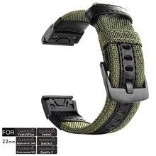 Fenix 6 Pro/zafiro pulsera QuickFit 22mm NOTA Durable banda de reloj de correa para Garmin Fenix 5X/Quatix 5/Forerunner 935/instinto