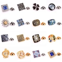 brand new high quality enamel craft exquisite pattern crystal zircon brooch mens lapel pin clothing backpack badge