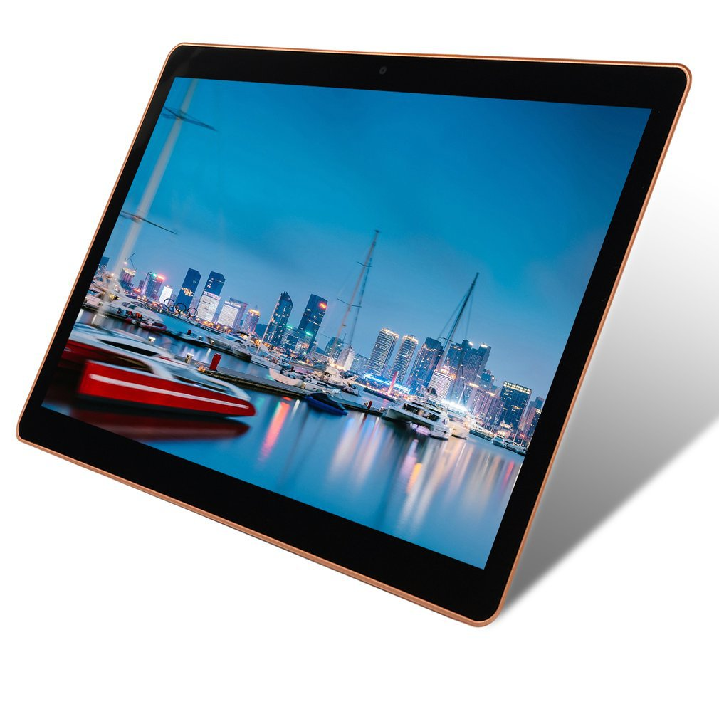 KT107 Plastic Tablet 10.1 Inch    Large Screen Android 8.10 Version Fashion Portable Tablet 1GB+16GB  Black Tablet Black US Plug