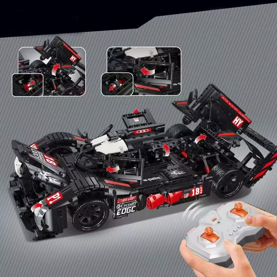 Novo moc super racing carro r18 ajuste lepinings técnica bloco de construção tijolos criança brinquedos educativos presentes natal do miúdo presente
